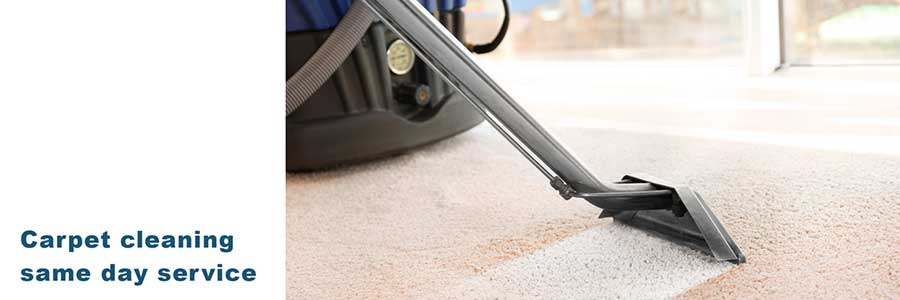 Same day carpet cleaning service.